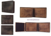 WALLET MEN LEATHER ENGRAVED