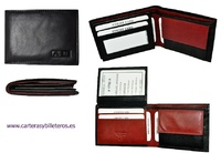 WALLET OF LEATHER SMALL FOR MAN WITH PURSE AND WALLET