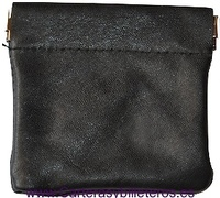 WALLET OF SIMPLE SKIN WITH BLACK NOZZLE -SET 3 UNITS-