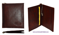 WALLET OF SKIN WITH WALLET PER NOZZLE PRESSURE AND CLIP FOR NOTES