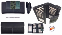WALLET OF WOMAN  LEATHER PURSE  MADE IN SPAIN HANDCRAFT LONG
