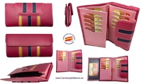 WALLET OF WOMAN  LEATHER PURSE  MADE IN SPAIN HANDCRAFT