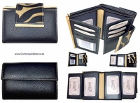 WALLET OF WOMAN  SKIN AND HAIR ZEBRA MADE IN SPAIN HANDCRAFT