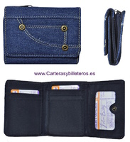 WALLET PURSE  FABRIC JEANS