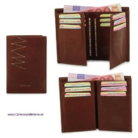WALLET WITH BILLFOLD CARDS FOR MAN OF SKIN