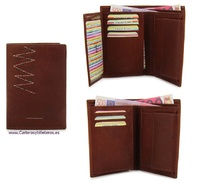 WALLET WITH PURSE FOR MAN OF SKIN WITH IMPACT WEAR