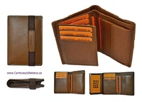 WALLET WITH RUBBER ELASTIC AND  PURSE MAKE IN LEATHER