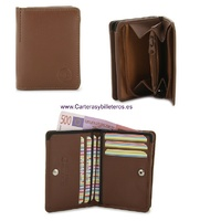 WALLET WITH SEPARATE PORTFOLIO LEATHER NAPA LUX