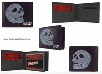 WALLET WITH SKULLS FOR MEN MADE OF LEATHER