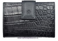 WALLET WOMAN IN QUALITY LEATHER  MADE IN SPAIN
