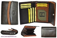 WALLET  WOMAN WITH DOUBLE FLAP LEATHER
