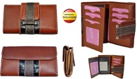 WALLET WOMEN'S WITH A LEATHER BOW  MADE IN SPAIN