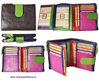 WOMAN LEATHER BILLFOLD AND WALLET VERY COMPLETE, NEW DESIGN