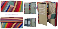 WOMAN WALLET OF BIG SKIN MULTICOLOR MADE IN SPAIN