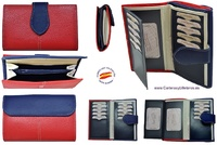 WOMAN WALLET  SKIN UBRIQUE MEDIANA RED AND NAVY BLUE