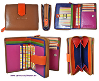 WOMAN WALLET  WITH PURSE MADE LEATHER MEDIUM - New colors collection  2019-2020 -