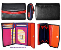 WOMAN WALLET  WITH PURSE MADE LEATHER  MEDIUM