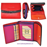 WOMAN WALLET  WITH PURSE MADE LEATHER