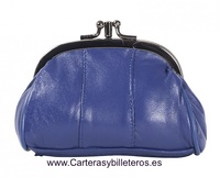 WOMEN LEATHER PURSE WITH DOUBLE NOZZLE AND POCKET