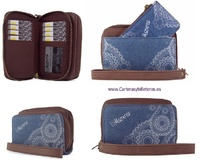 WOMEN'S HANDBAG WITH CARDBOARD AND PURSE WALLET-SET 2 UNITS-
