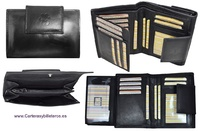 WOMEN'S LEATHER WALLET ERIUM 17 CARDS