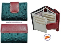WOMEN'S LEATHER WALLET OF AVESTRUZ