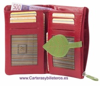 WOMEN'S LEATHER WALLET WITH PURSE AND BILLFOLD MEDIUM