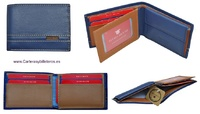 WOMEN'S SMALL LEATHER TITTO BLUNI WALLET 7 CARDS