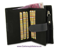 WOMEN'S WALLET  WITH ZIPPER PURSE MADE IN LEATHER